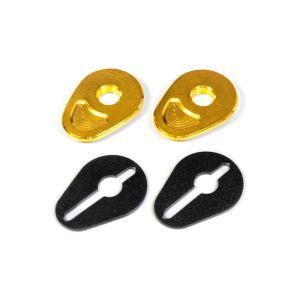 แผ่นยึดไฟเลี้ยว (สำหรับใส่ไฟเลี้ยวแต่ง)MT-15 / AEROX / EXCITER -Gold